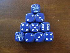 LOTR TMG Combat Hex Dice - Blue Gondorian (Solid) x 10