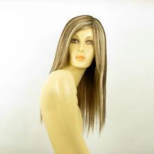 Perruque femme mi-longue méchée blond clair méché cuivré chocolat HELOIS 15613H4