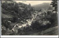 Ruhla Thüringen alte Postkarte 1908 gelaufen Gesamtansicht Häuser Wald