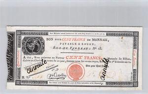 Caisse d'échange de Rouen 100 Francs An 12 n° 551 Pick S 246b