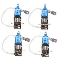 4Pcs H3 6000K Xenon Gas Halogen Headlight White Light Lamp Bulbs 55W 12V HS