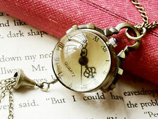 ANTIQUE RETRO STYLE CRYSTAL BALL WATCH NECKLACE FREE SHIPPING