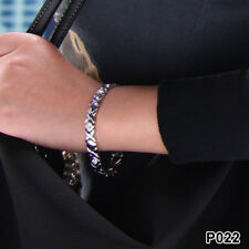 P022 Silver Bracelet with Magnets