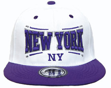BASECAP Baseball SNAP BACK CAP Weiß Lila New York Fittet Damen Herren NY 5