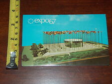 RARE VINTAGE POSTCARD OLD EXPO 67 1967 MONTREAL CANADA