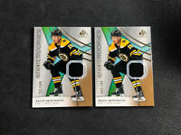 2019-20 SP GAME USED ZACH SENYSHYN LOT OF (2) AUTHENTIC ROOKIE JERSEY #ed /599