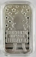 1 oz .999 silver American Soldier art bar stars and stripes Army Marine Trump