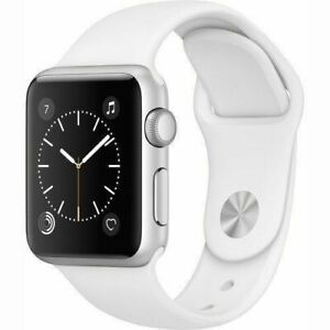 Apple Watch Series 1 42mm Silver Case - White Sport Band