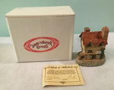 David Winter Cottages Wine Merchant Figurine w/Certificate of Authenticity