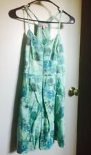 Candies Womens Dress Size 9 Floral Print Fit and Flare Side Zip Free Shipping