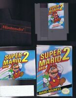 ORIGINAL Vintage 1988 Nintendo NES Super Mario Bros 2 Cartridge w/ box + manual