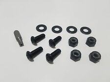 BLACK Anti Theft Security Stainless Motorcycle License Plate Frame Bolts Screws