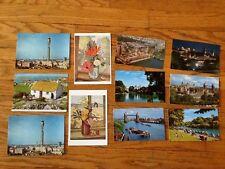 Vintage Mid-Century Postcards lot (11) of England c.1950