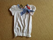 New with Tags white T Shirt with red white & blue bows in size 3 to 4 by Next