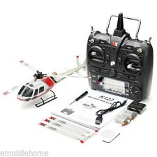 XK K123 6CH RC Flybarless Brushless Helicopter RTF Compatible with Futaba S-FHSS
