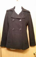 KENNETH COLE REACTION WOMAN'S BLACK WOOL BLEND WINTER COAT PEACOAT SZ 2