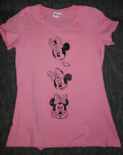 "NEU DISNEY Damenshirt ""MINNIE MOUSE"" Gr 38 M T-Shirt Top Kurzarm Rosa Comic"