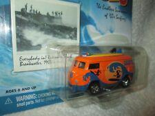 VW BUS VAN w/ surfboards surf rods Huntington Honeys 1/64 Johnny LIGHTNING