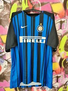 INTERNAZIONALE INTER MILAN FOOTBALL SHIRT SOCCER JERSEY NIKE 2017 MENS SIZE 2XL