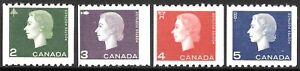 CANADA 1962-63 coil set 4, UM. SG 532/534.