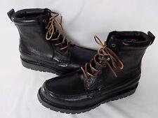 NEW Mens Ralph Lauren Black Grained Leather Boots UK 11 USA 12 D RRP £195