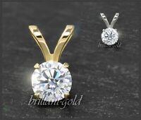Diamant Anhänger Damen 585 Gold Brillant 3-5 mm/ 0,10-0,50 ct, Weißgold/Gelbgold