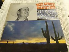 GENE AUTRY COLUMBIA LP 1575 GREATEST HITS MONO  BACK IN THE SADDLE/BE HONEST & 9