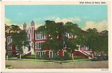 High School in El Reno OK Postcard