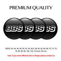 Print 4 x 56 mm Aufkleber Emblem Logo BBS Wheels Silikon Felgen Nabenkappen