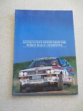 Vintage 1988 Lancia Y10 Prisma Thema Delta advertising brochure
