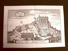 Castello di Ambras Innsbruck Austria Incisione Merian Matthäus del 1640 Ristampa