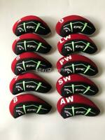 10PCS Golf Iron Headcovers for Callaway EPIC Club Head Covers Red&Black 4-LW Set