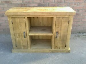 NEW SOLID WOOD MINI SIDEBOARD TV CABINET STORAGE CUPBOARD **MADE TO MEASURE**