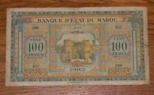 Morocco 100 Francs 1943 P 27 WWII