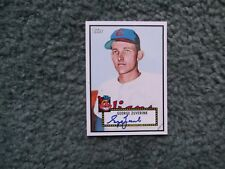 2011 TOPPS LINEAGE BASEBALL GEORGE ZUVERINK #199 AUTO AUTOGRAPH, 1952 STYLE