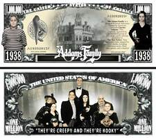 Addams Family Million Dollar Bill Collectible Fake Funny Money Novelty Note