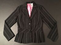 Juniors Black & Pink Pinstrioed Blazer by no bounderies - Size Small (3/5)