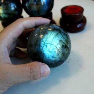 Natural Stone Sphere Ball Crystal Meditation Labradorite Quartz Reiki Healing