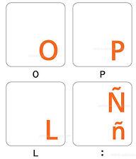 spanish latin american keyboard sticker orange letters