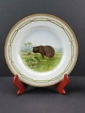 "New ListingRoyal Copenhagen Flora Danica 10"" Game Plate, Brown Bear Ursus Arctos"