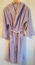 Ladies M&S Lilac Hooded Dressing Gown Size 8-10  S3623