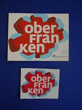 Aufkleber Oberfranken Deutscher Regierungsbezirk im Bundesland Bayern 2 Stück