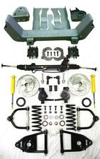 """1964-1970 Ford Mercury Mustang II Power Front End Suspension Kit 2"""" Drop Slotted"""