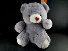 Toy O Rama Bear Gray Red Heart Nose Happy Valentine Day Plush Stuffed 10""