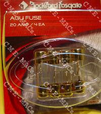 Fuse Agu Glass 20 Amp Gold Plated Rockford-Fosgate Rp7560 Free Ship🔧👀🎧🚨🔱𠟚—â�