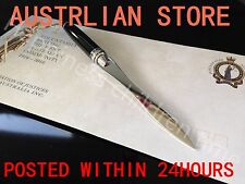 Letter Opener Cutter Open Office Envelope Knife Comfortable Solid Wood Handle