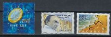 France 2001 stamps MNH,Jean Vilar Actor,Beach Vacation,Euro Coin Sc#2827-28,2830