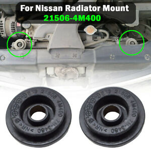 2pc Radiator Mount Rubber Bushing Holder For Nissan X-Trail T30 T31 T32 2000-20