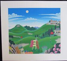 KOBE GOLF MOUNT ROKKO - JAPAN  Thomas McKnight Signed Numbered Ltd Ed Serigraph