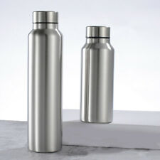 Stainless Steel Water Bottle Single Wall Vacuum Camping Sports Gym Metal Flask